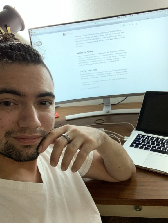 Sitting at my desk (with my brother's badass computer) writing this blog